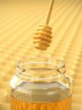 Cazo de la miel Imagen de archivo