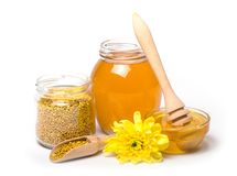 cazo de la miel y miel imagen de archivo libre de regalías