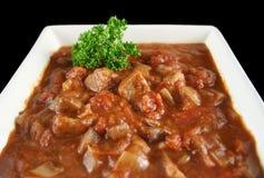 Cazuela 2 de la carne de vaca y del vino rojo Fotos de archivo