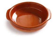 Cazuela, cocotte en terre espagnole de poterie de terre Photos libres de droits
