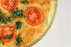 Cazuela del huevo de Chile y del tomate en el pote de cristal, imagen de archivo
