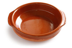 Cazuela, Spaanse aardewerkbraadpan Royalty-vrije Stock Foto's