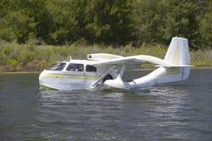 CB Amphibious seaplane taking off from Lake Casitas, Ojai, California Royalty Free Stock Photography