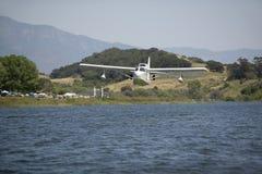 CB Amphibious seaplane taking off from Lake Casitas, Ojai, California Stock Images