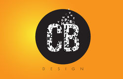 CB C B Logo Made of Small Letters with Black Circle and Yellow B Royalty Free Stock Photos