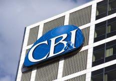 CB&I ontwerpen, ingenieurs en concepten enkele grote wereld Stock Foto