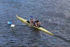 CBC rowing with Eric Lev and Joe Linhoff Royalty Free Stock Images