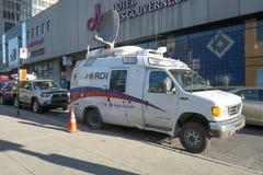 CBC Television transmission vehicle. Radio Canada Television transmission vehicle in Montreal, Quebec, Canada stock photo