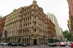 CBD旅馆和餐馆修造外部在悉尼 免版税库存照片