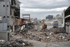 南部cbd克赖斯特切奇被毁坏的地震 免版税图库摄影