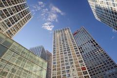 在CBD附近的高层建筑物 免版税库存图片