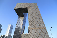 CBD-Beijing CCTV Tower. In Beijing Central Business District, there are many buildings.This is the China Central Television (cctv)building, its style was Stock Image