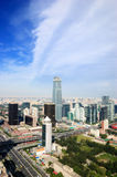 CBD-Beijing city Economic centers. This is Beijing's Central Business District-Economic centers.Real estate is China's most important  industries now.House Royalty Free Stock Photos