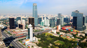 CBD-Beijing city Skyline. This is Beijing's Central Business District-Economic centers.Real estate is China's most important  industries now.House prices rose Royalty Free Stock Photo