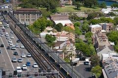Cbd de la ciudad de Sydney, Australia. imágenes de archivo libres de regalías