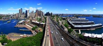 Cbd de ville de Sydney, Australie. Images libres de droits