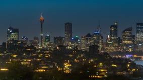 Cbd della città di Sydney Immagine Stock