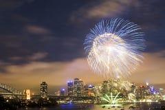 CBD Fireworks Royalty Free Stock Photography