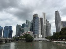 CBD-gebied in Singapore Stock Foto