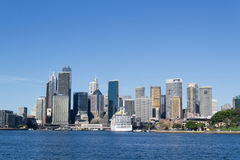 CBD by the harbour Stock Photos