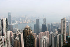 cbd Hong Kong brumeux Images libres de droits