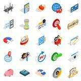 CBD icons set, isometric style. CBD icons set. Isometric set of 25 cbd vector icons for web isolated on white background Royalty Free Stock Photos