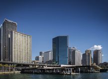 CBD kurendy i dzielnicy biznesu quay terenu Sydney środkowy aust Obraz Stock