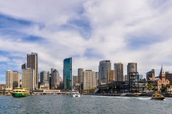 CBD from the Manly Ferry in Sydney, Australia Royalty Free Stock Photos