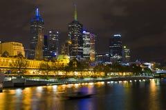 cbd melborne yarra ποταμών νύχτας στοκ φωτογραφίες με δικαίωμα ελεύθερης χρήσης