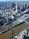 cbd Melbourne fotografia stock