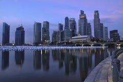 cbd miastowy krajobrazowy Singapore Obrazy Royalty Free