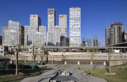 CBD-Peking stads Economische centra Royalty-vrije Stock Afbeeldingen