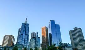 CBD Skyline in melbourne Stock Photo