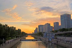 CBD sunset scene, Beijing Stock Photography