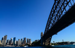 CBD  and Sydney Harbour Bridge from ferry Stock Photos
