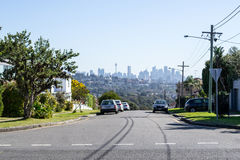 CBD from the top. Views of downtown Sydney from Watsons bay Royalty Free Stock Photography
