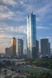 CBD von Guangzhou-Stadt Lizenzfreie Stockfotos
