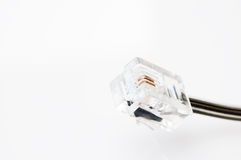 Câble de connecteur de téléphone Photo stock