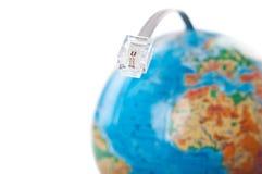 Câble et globe digitaux électriques Photos stock