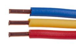 Câble électrique Photographie stock