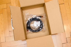 Câble rouge d'Amazone et de haute qualité de la meilleure qualité de ftp CAT6a de Duronic Images libres de droits