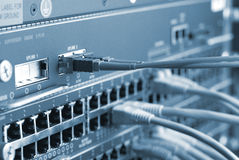 Câbles de réseau Photos stock