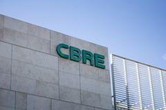 CBRE-Gebäudezeichen lizenzfreie stockfotos