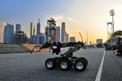 CBRE robot demonstrating capability at NDP 2011 Royalty Free Stock Photos