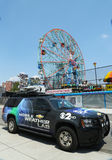 CBS Channel 2 mobile weather lab in Brooklyn, NY Stock Images