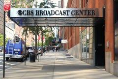 CBS ha trasmesso per radio il centro fotografie stock