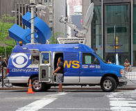 CBS News Van Stock Photos