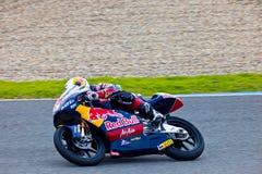 125cc摩托车的乔纳斯Folger飞行员在世界champio的 免版税库存照片