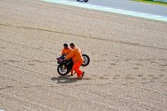 125cc的丹尼尔Kartheininge飞行员在MotoGP的 库存照片