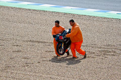 125cc的丹尼尔Kartheininge飞行员在MotoGP的 免版税库存图片